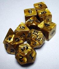 Gold/Black Olympic Polyhedral 7-Die Set