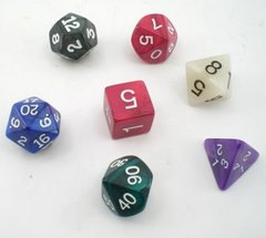 Assorted Color Pearlized 7 Pc Gaming Dice Set