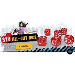 Zombicide 2nd Edition All-Out Dice Set (6)
