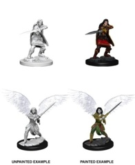 D&D Unpainted Minis - Female Aasimar Fighter