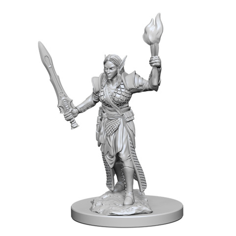 Pathfinder Battles Unpainted Minis - Elf Female Fighter