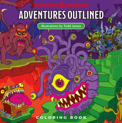 Dungeons and Dragons Adventures Outlined Coloring Book