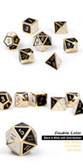 Metal & Enamel Dice Set (7pcs) Chess