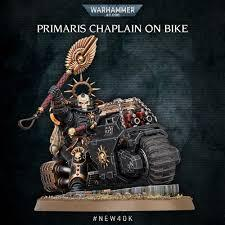 Space marines: Primaris Chaplain on Bike