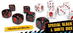 Zombicide 2nd Edition Special Black & White Dice Set (12)