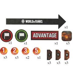 World of Tanks: Miniatures Game-Token Set(25)