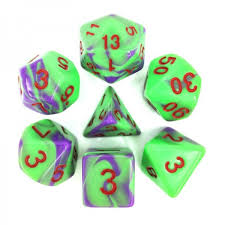 Blend Purple/Green w/Red 7D Set