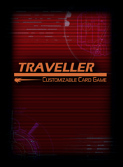 Traveller CCG: Red Traveller Logo Sleeves