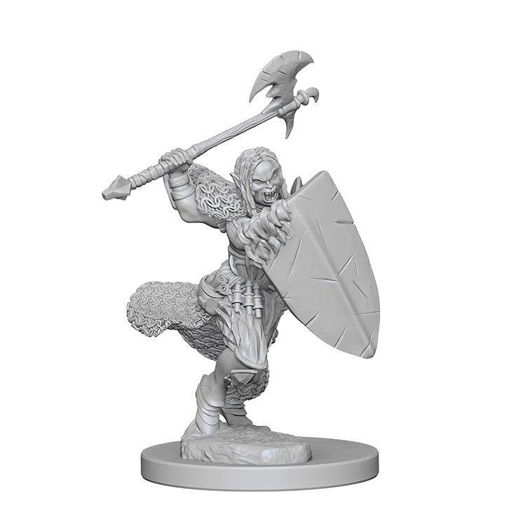 Pathfinder Battles Unpainted Minis - Half-Orc Female Barbarian