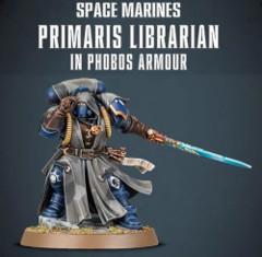 Space Marines Primaris Libarian in Phobos Armour