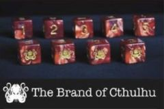 Elder Dice Set D6 Cthulhu Red (9)