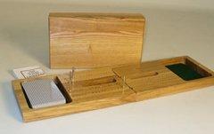 Cribbage: Travel Oak Folding 2-Player