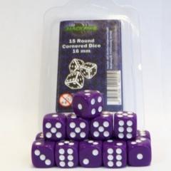 16mm D6 Dice Set - Purple (15 Dice)