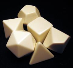 Blank Polyhedral Dice Set