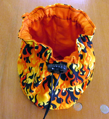 Large Dice Bag. Fire.