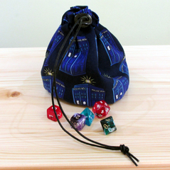 Large Dr Who Tardis Dice Bag