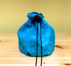 Dice Bag Large Turquoise Batik