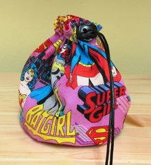 Dice Bag Large Wonder Woman Batgirl Supergirl