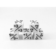 Counter Dice - White +