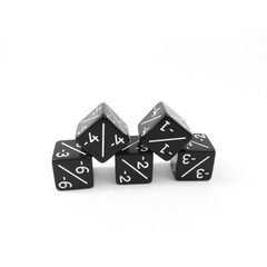 Counter Dice - Black -