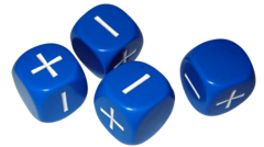 Fudge Dice Set - Blue (x4)