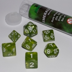 16mm Role Playing Dice Set - Emerald Green (7 Dice)