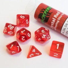 16mm Role Playing Dice Set - Crystal Red (7 Dice)