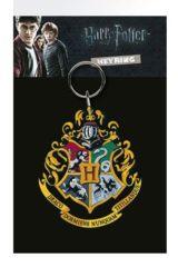 Harry Potter Rubber Keychain Hogwarts Crest 7 cm