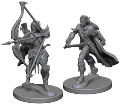Pathfinder Battles Unpainted Minis - Elf Male Fighter (Bow and Sword)