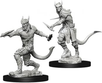 D&D Unpainted Minis - Tiefling Male Rogue - Dungeons and Dragons
