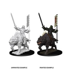 Pathfinder Battles Unpainted Minis - Orc on Dire Wolf