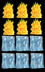 D&D Spell Effects Miniatures - Wall Of Fire And Wall Of Ice