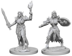 Pathfinder Battles Unpainted Minis - Elf Female Fighter (Sword and Torch)