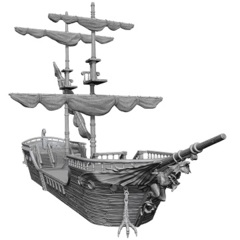 D&D Unpainted Minis - The Falling Star Sailing Ship