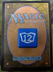 Metal Planeswalker Loyalty Dice Blue Small (7-12) Magic the Gathering