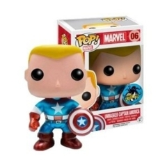 Funko Pop! - Marvel - #06 - Unmasked Captain America (Metallic, Comikaze)
