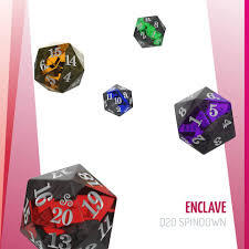 Okaie Doakie Dice - 5xD20 Spindown - Enclave Selection