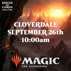 Cloverdale -Zendikar Rising Prerelease Sept 26 10:00AM