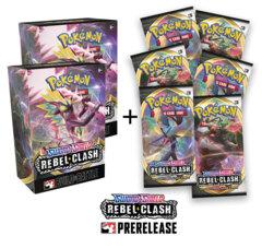 Pokemon Rebel Clash Prerelease Kit x2 + 6 Prize Boosters