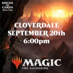 Cloverdale -Zendikar Rising Prerelease Sept 20 6:00PM