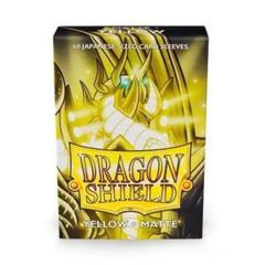 Dragon Shield Matte - Japanese size - Yellow - 60 ct