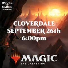 Cloverdale -Zendikar Rising Prerelease  Sept 26 6:00PM
