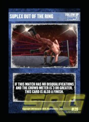20 - Suplex Out Of The Ring