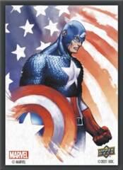 MARVEL CARD SLEEVES: CAPTAIN AMERICA 65CT