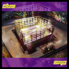Steel Cage Playmat And Crowd Meter