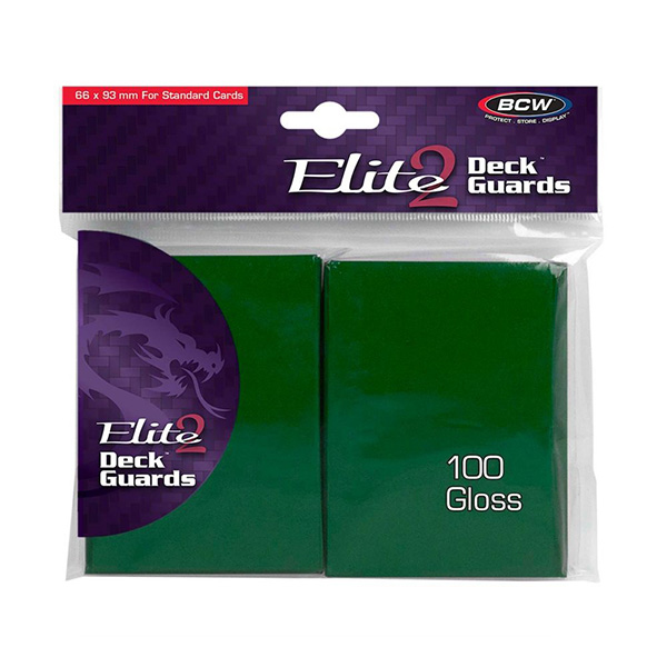 BCW Elite 2 Deck Guards- Glossy- Green (100 ct.)
