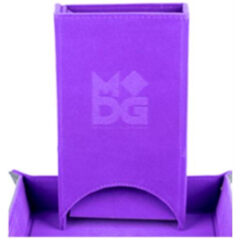 FOLD UP VELVET DICE TOWER: PURPLE