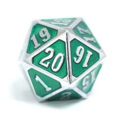 MTG Roll Down Counter - Shiny Silver w/ Emerald
