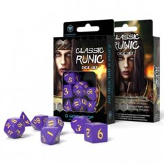 Q Workshop -  7-Die Set Runic Classic: Purple/Yellow