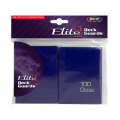 BCW Elite 2 Deck Guards- Glossy- Blue (100 ct.)